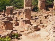 Ruïnes van oud Carthago Stock Afbeeldingen