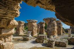 Ruïnes van Oud Carthago - Baden van Carthago, Tunesië royalty-vrije stock foto's