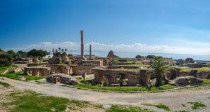 Ruïnes van Oud Carthago - Baden van Carthago, Tunesië royalty-vrije stock foto