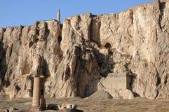 Ruïnes van oud fort in Bestelwagen, Oostelijk Turkije stock afbeeldingen