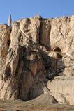 Ruïnes van oud fort in Bestelwagen, Oostelijk Turkije stock foto