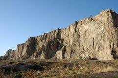 Ruïnes van oud fort in Bestelwagen, Oostelijk Turkije stock afbeelding