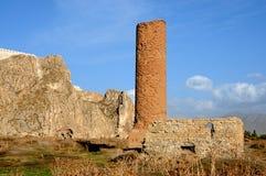 Ruïnes van oud fort in Bestelwagen, Oostelijk Turkije royalty-vrije stock afbeelding