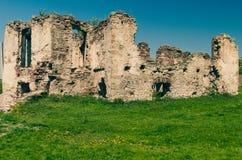 Ruïnes van oud kasteel in de West-Oekraïne Stock Afbeelding