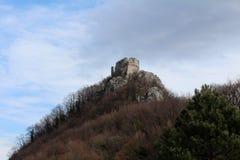 Ruïnes van oud kasteel Okic Kroatië stock foto's