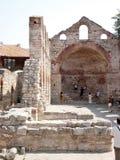 Ruïnes van oud monument Royalty-vrije Stock Afbeeldingen