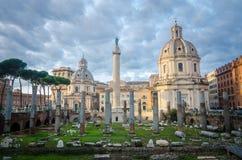 Ruïnes van oud Rome Royalty-vrije Stock Fotografie