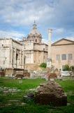 Ruïnes van oud Rome Stock Afbeeldingen