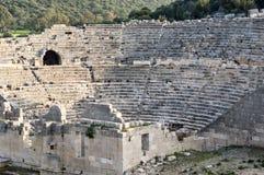 Ruïnes van oude amphitheatre royalty-vrije stock afbeelding