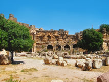 Ruïnes van oude beschaving in Libanon Stock Afbeelding