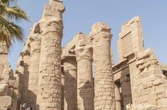 Ruïnes van oude Egyptische tempel Royalty-vrije Stock Fotografie