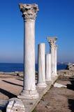 Ruïnes van oude Griekse tempel Stock Afbeelding