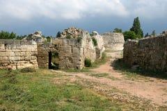 Ruïnes van oude Hersones Stock Fotografie