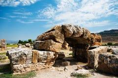 Ruïnes van oude Hierapolis Stock Afbeelding