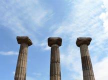 Ruïnes van oude kolommen royalty-vrije stock foto's