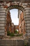Ruïnes van oude manor Royalty-vrije Stock Fotografie