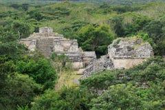 Ruïnes van oude Mayan stad Ek Balam, Yucatan, Mexico Stock Foto's