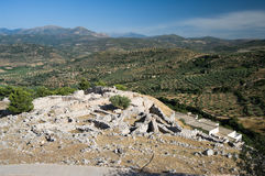 Ruïnes van oude Mycenae royalty-vrije stock afbeelding