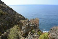 Ruïnes van Oude Pompende Waterpost, Tenerife, Canarische Eilanden, Spanje, Europa Royalty-vrije Stock Foto