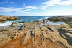 Ruïnes van oude roman haven Royalty-vrije Stock Afbeelding
