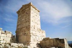 Ruïnes van oude stad Stock Foto's