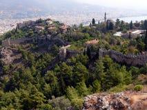 Ruïnes van oude stad in Alania Royalty-vrije Stock Fotografie