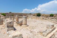 Ruïnes van oude stad in Cyprus royalty-vrije stock foto