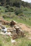 Ruïnes van oude stad in de lente stock fotografie