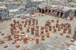 Ruïnes van oude stad Kourion cyprus stock foto