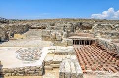 Ruïnes van oude stad Kourion op Cyprus royalty-vrije stock afbeelding