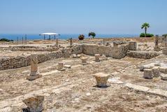 Ruïnes van oude stad Kourion op Cyprus royalty-vrije stock afbeeldingen