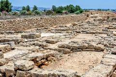 Ruïnes van oude stad op Cyprus royalty-vrije stock afbeeldingen