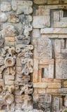 Ruïnes van oude stad van Uxmal stock afbeelding