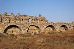 Ruïnes van oude stadsKant Stock Fotografie