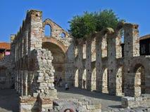 Ruïnes van oude steenkerk Royalty-vrije Stock Fotografie