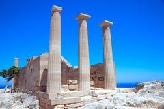 Ruïnes van oude tempel Royalty-vrije Stock Afbeeldingen