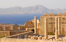 Ruïnes van oude tempel. Griekenland Stock Foto
