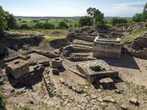 Ruïnes van oude Troia-stad, Canakkale Dardanellen/Turkije royalty-vrije stock foto's