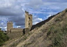 Ruïnes van oude vesting. Royalty-vrije Stock Afbeeldingen