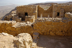 Ruïnes van oude vesting Masada, Israël. Stock Afbeelding
