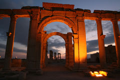 Ruïnes van Palmyra stock foto