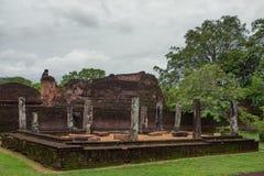 Ruïnes van Polonnaruwa in Sri Lanka Royalty-vrije Stock Foto's