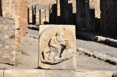 Ruïnes van Pompei Royalty-vrije Stock Foto's
