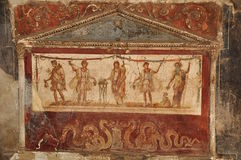 Ruïnes van Pompei Stock Foto