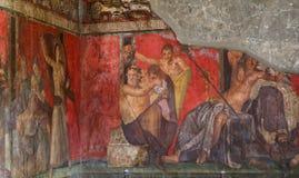Ruïnes van Pompei, dichtbij Napels, Italië Royalty-vrije Stock Foto's