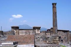 Ruïnes van Pompei dichtbij vulkaan de Vesuvius Royalty-vrije Stock Afbeeldingen