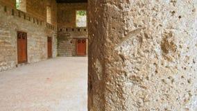 Ruïnes van Pompei, Italië Archeologisch park dichtbij vulkaan de Vesuvius stock videobeelden