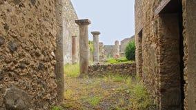 Ruïnes van Pompei, Italië Archeologisch park dichtbij vulkaan de Vesuvius stock video
