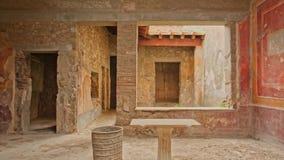 Ruïnes van Pompei, Italië Archeologisch park dichtbij vulkaan de Vesuvius stock footage