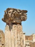 Ruïnes van Pompei, oude Roman stad Pompei, Campania Italië Royalty-vrije Stock Fotografie